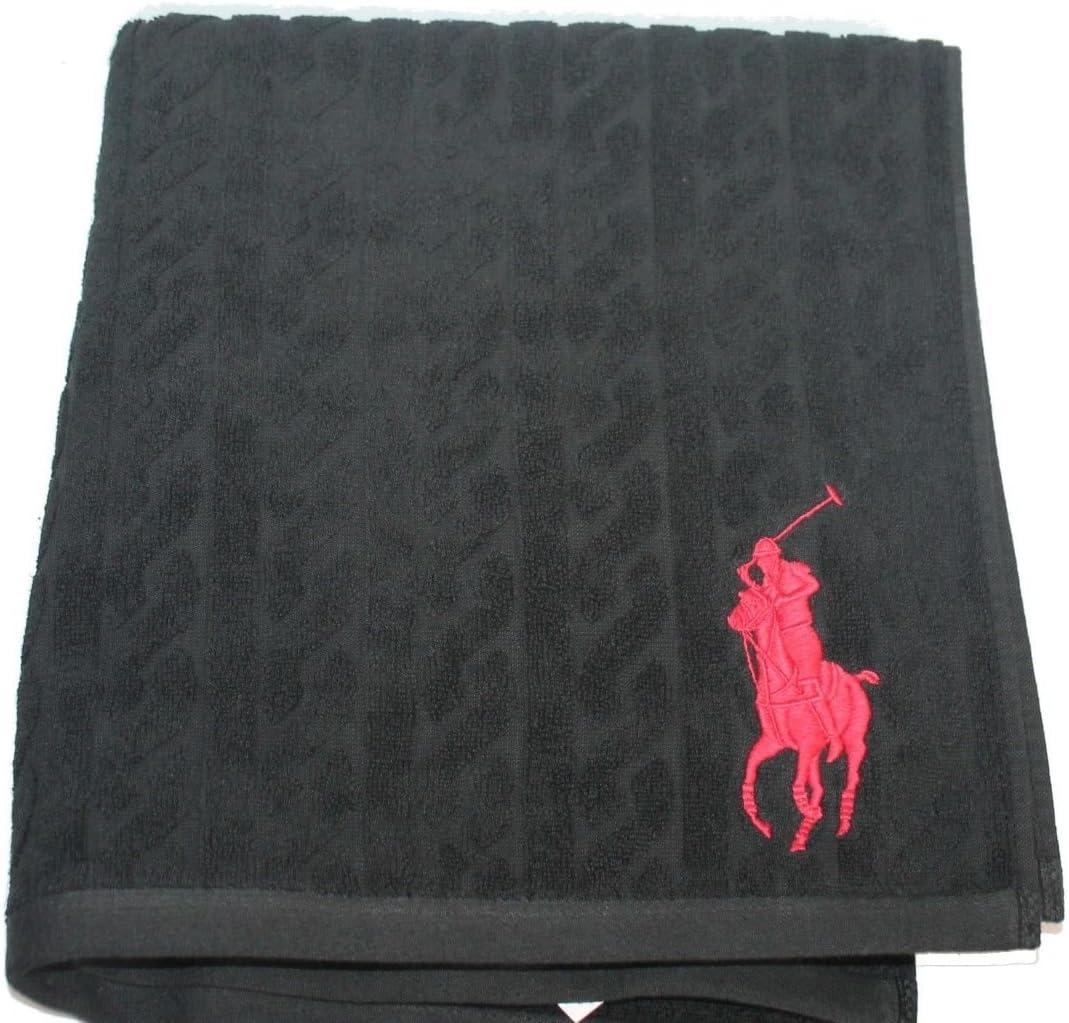 Ralph Lauren Polo Home Negro Grande Pony Toalla jk28, 600 gsm ...