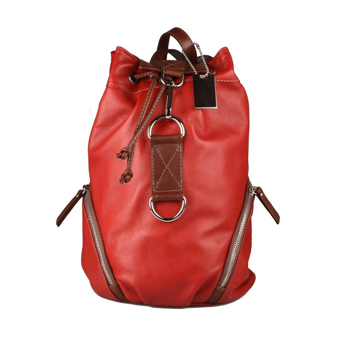 Dream Leather Bags Made in Italy Genuine Leather レディース 565-4 US サイズ: 1 M US カラー: レッド   B07CV553W9