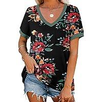 Deals on ONLYSHE Womens Casual Short Sleeve Tops