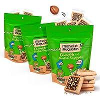 Michel et Augustin Gourmet Chocolate Cookie Squares   Milk Chocolate & Hazelnut   Individually Wrapped European Cookies…