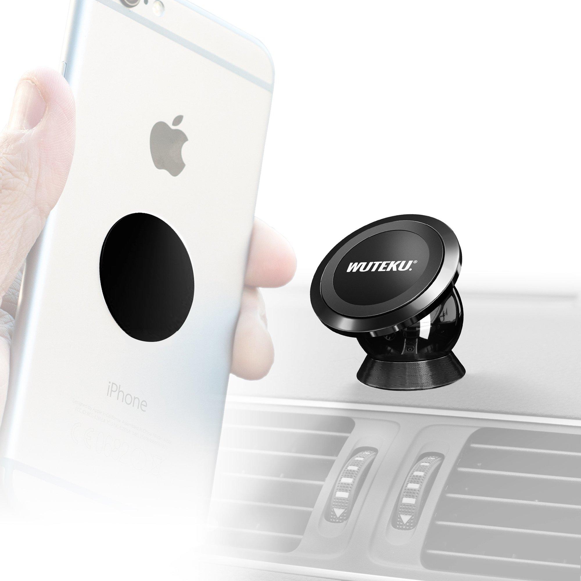 Soporte de celular para Auto | Completamente seguro y manos-libres | Un sujetador magnético extra fuerte | El mejor accesorio para conducir | funciona en cualquier vehículo y cualquier teléfono
