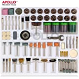 Apollo 225 Piece Rotary Tool Accessory Tool Kit. Standard Sizes -- Dremel Compatible – in Storage Tray