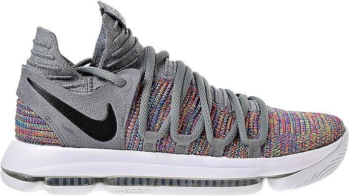 collar Desgastar monigote de nieve  Amazon.com: Nike 897815-900 Kevin Durant KD 10 - Zapatillas de baloncesto  para hombre, multicolor y negro, color gris y blanco: Shoes