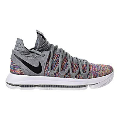 c21a8a4e6d4 Nike Mens Kevin Durant KD 10 Basketball Shoes Multicolor Black-Cool Grey- White
