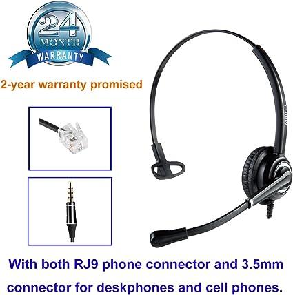 Telefon Headset Mit Noise Cancelling Mikrofon Büro Elektronik