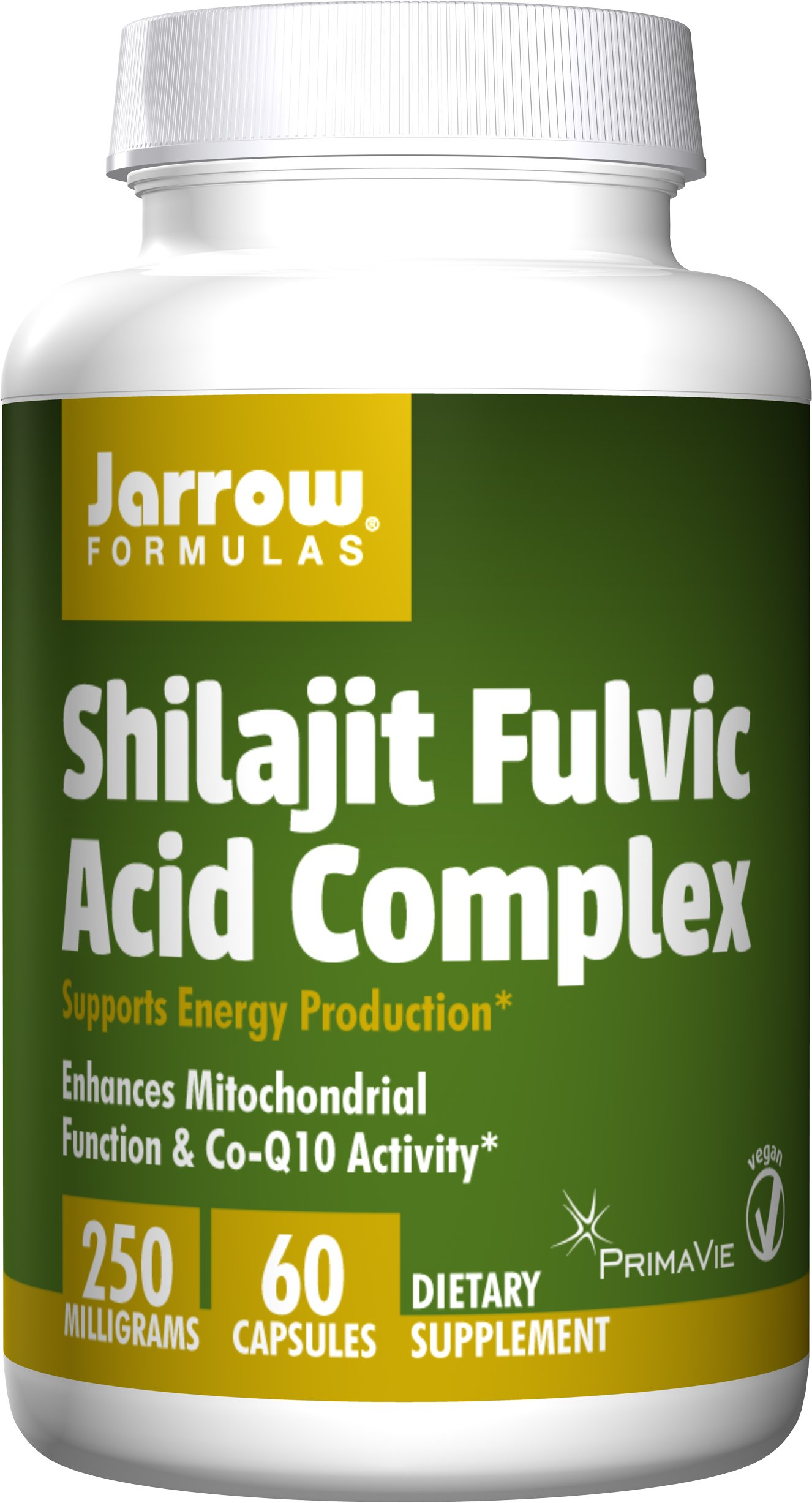 Jarrow Formulas Shilajit Fulvic Acid Complex 250 Mg, Supports Energy Production, 60 Veggie Caps