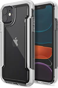 Raptic Clear, Compatible with Apple iPhone 11 (Formerly X-Doria Clear) - Military Grade Drop Protection, Shock Protection, Clear Protective Case for Apple iPhone 11, White