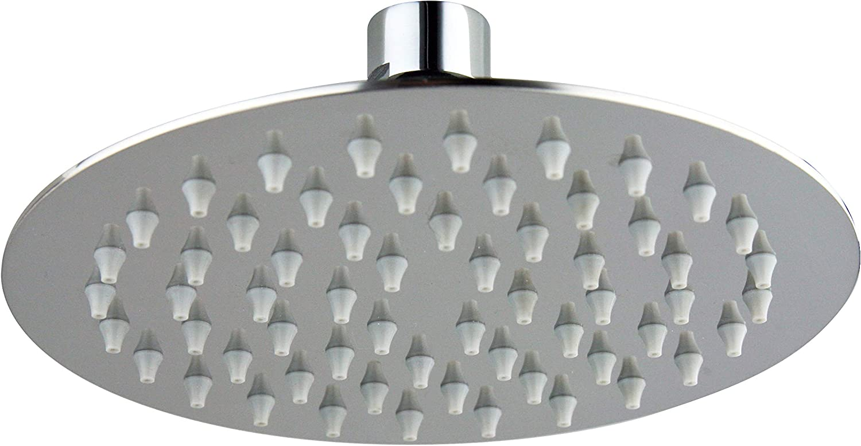 Alcachofa de ducha redonda de acero inoxidable pulido con espejo antical di/ámetro de 150 mm