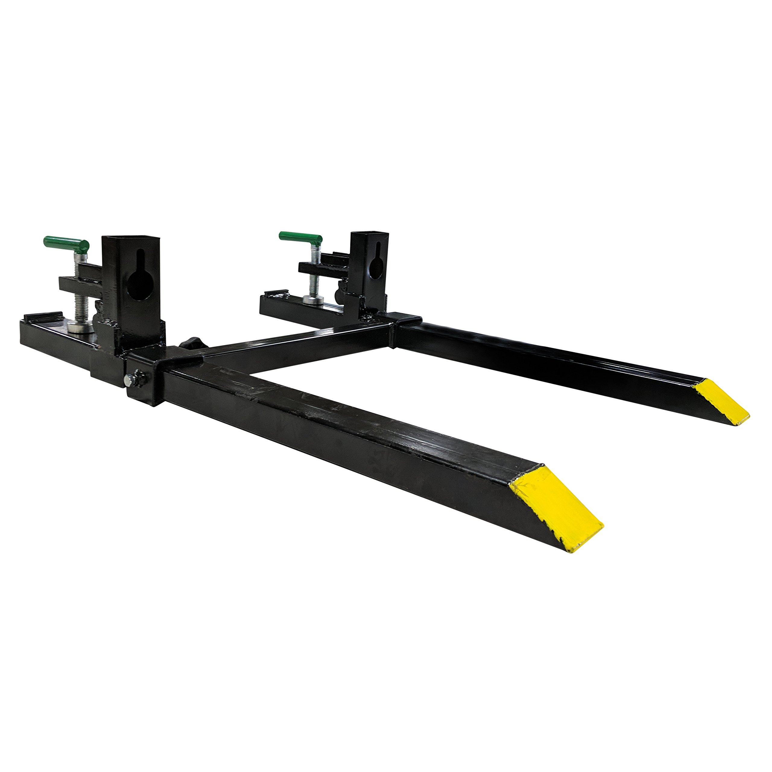 30'' LW Clamp on Pallet Forks w/ Adjustable Stabilizer Bar 1500lb Capacity Loader