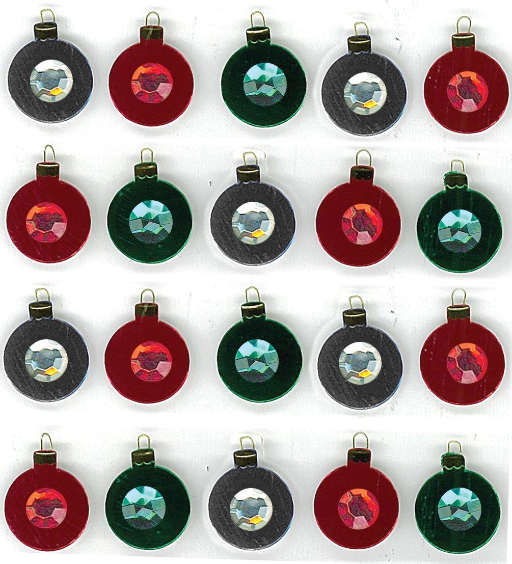 Amazon.com: Jolees Jolee\'s Christmas Sticker, Christmas Ornament Repeats