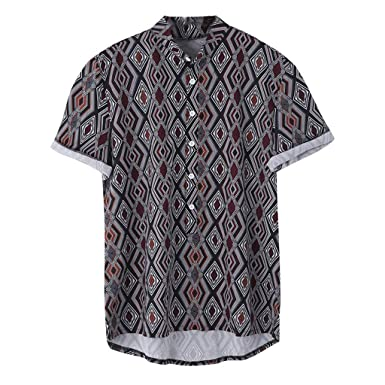 sale retailer 993a4 7fa1a Camicia Hawaiana da Uomo Estiva Fiori Tropicale 3D Stampa ...