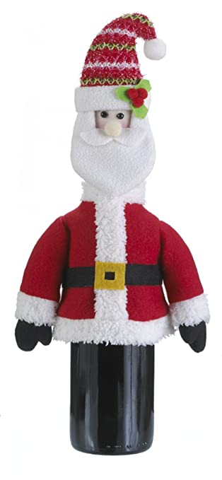 8f80aacfbb5 Image Unavailable. Image not available for. Color  Ganz Christmas Gifts Wine  Bottle Snugglers Santa