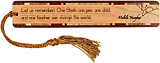 product image for Malala Yousafzai Teacher Quote, Engraved Wooden Bookmark with Tassel - Search B0725KGRJ8 for Personalized Version