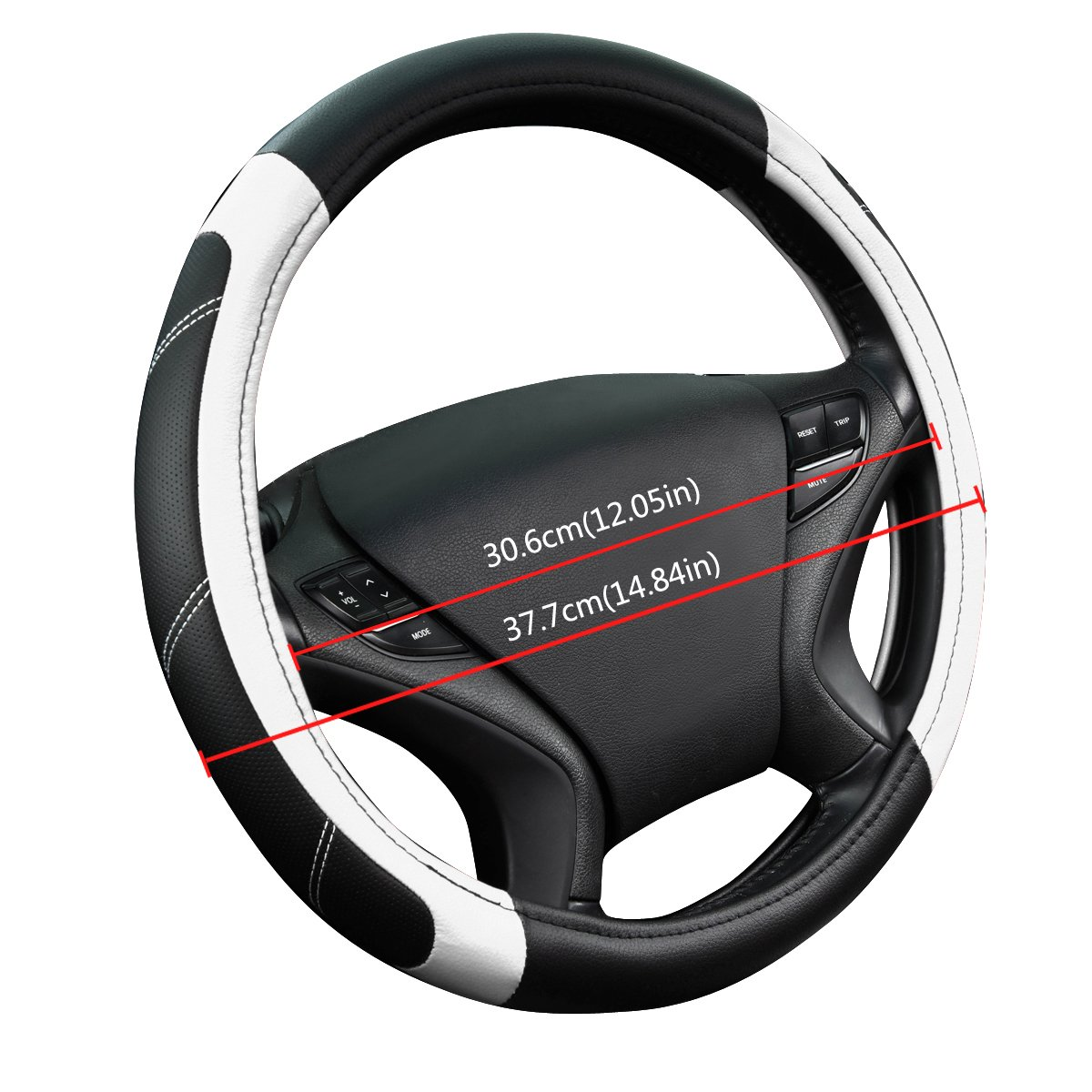 NEW ARRIVAL CAR PASS Line Rider Leather Universal Steering Wheel Cover fits for Truck,Suv,Cars Black with blue color