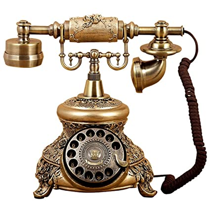 Amazon com : DNSJB phone Telephone Rotary Classic Telephone Office