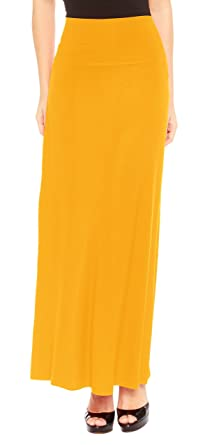 381c1c70d78a4 Red Hanger Women s Stylish Solid Long Maxi Skirt - Made in USA at ...