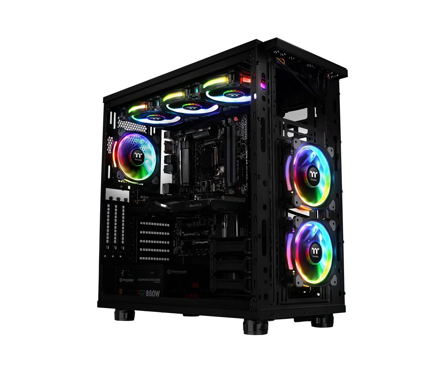 Thermaltake Riing Plus 14 RGB TT Premium Edition 140mm Software Enabled Circular 12 Controllable LED Ring Case/Radiator Fan - Five Pack - CL-F057-PL14SW-A by Thermaltake