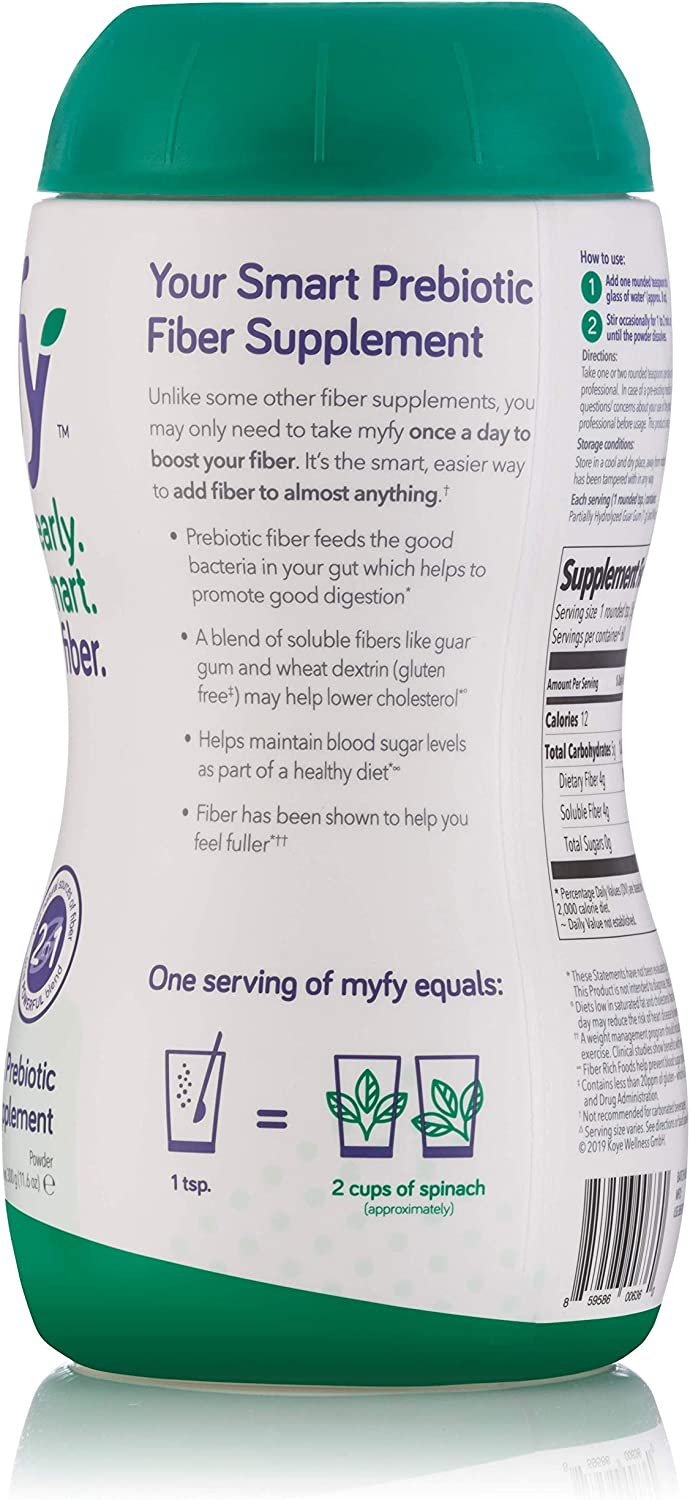 myfy - Your Natural Smart Prebiotic Fiber Supplement, 60 Servings - Premium Blend, Clearly Soluble, Taste-Free & Sugar-Free, Powder Supplement, 11.6 Ounce: Health & Personal Care