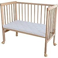 WALDIN ouvrir Lit cododo pour bébé/berceau - hauteur réglable - bois naturel ou blanc laqué,non traité
