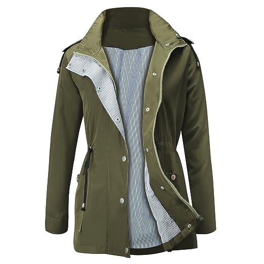 a4aa1871 FISOUL Raincoats Waterproof Lightweight Rain Jacket Active Outdoor Hooded  Women's Trench Coats