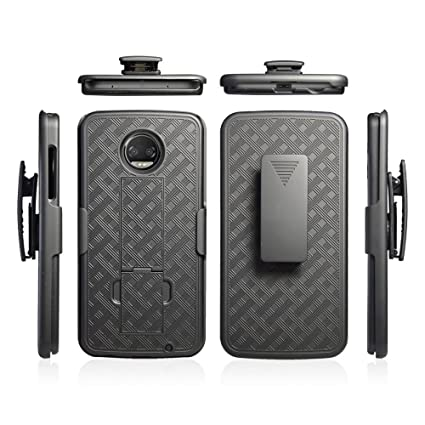 promo code 0e59d 06123 ZASE Holster Case for Moto Z2 FORCE, Moto Z Force Edition (2nd Gen.) 2017  Tough Rugged Armor Slim Protective Shell Defender Swivel Belt Clip  Kickstand ...
