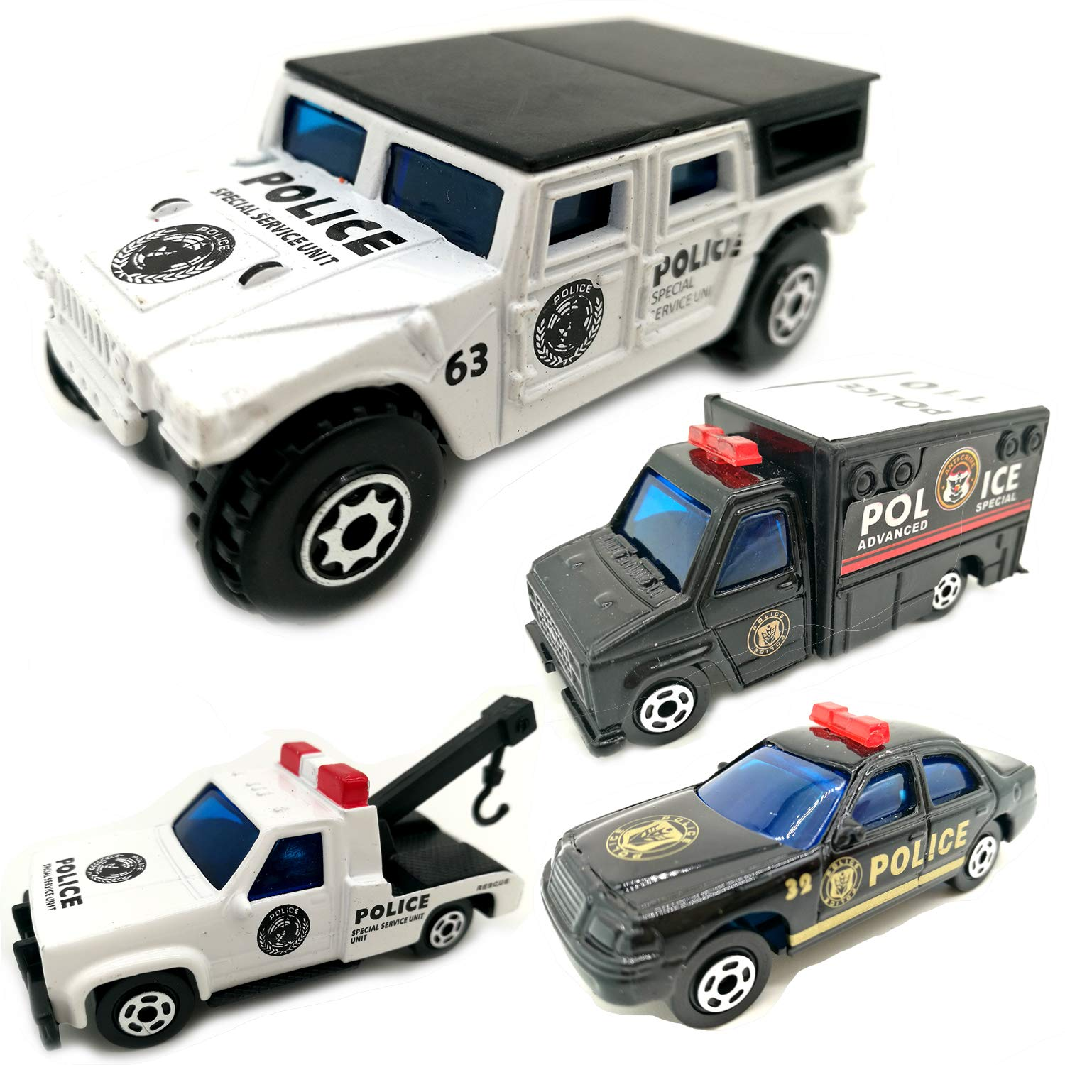 Kid Alloy Toy Cars Children's Sports Toy Cars Agricultural Vehicles (police series)