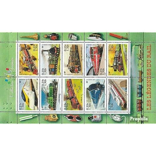 France 3545-3554 Feuille miniature (complète.Edition.) 2001 Chemin de fer (Timbres pour les collectionneurs)