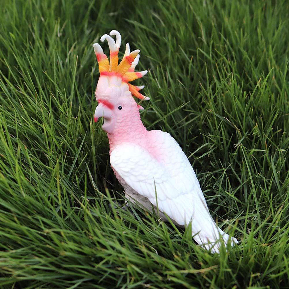 FLORMOON Figure di Uccelli Realistico Cacatua Set di Giocattoli per Animali simulata Giocattoli di Modelli Animali in plastica Imparare Giocattoli educativi per Ragazze Bambini Piccoli