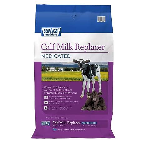 Amazon.com: SAV-A-CAF Reemplazo de leche de ternera, 25 lb ...