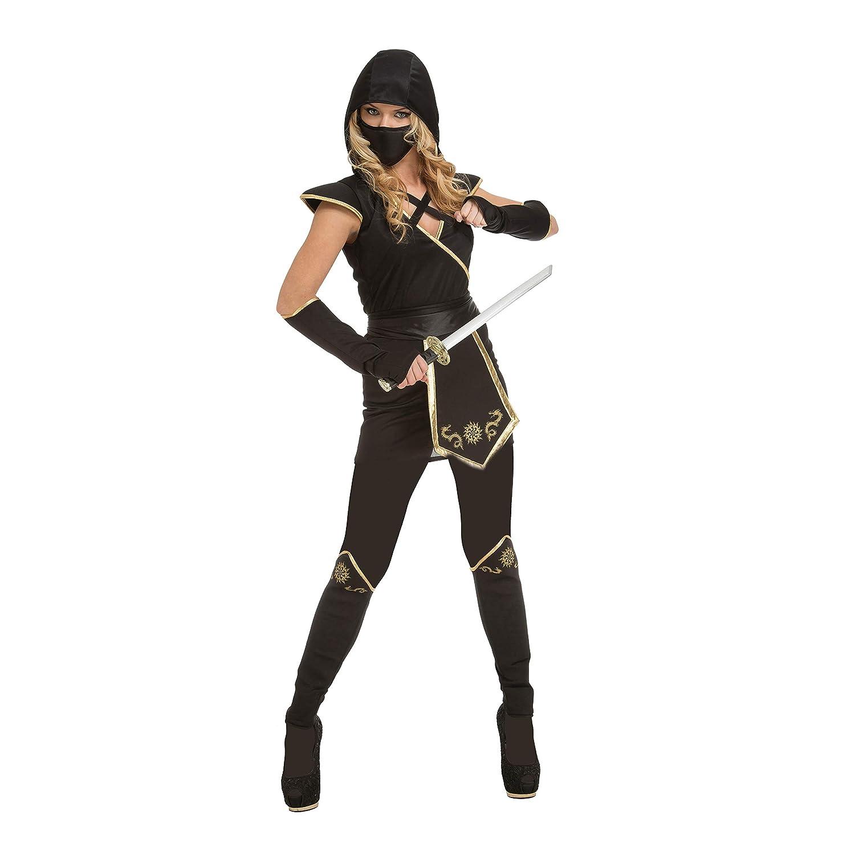 My Other Me Me-204895 Disfraz de ninja para mujer, color negro, S (Viving Costumes 204895)
