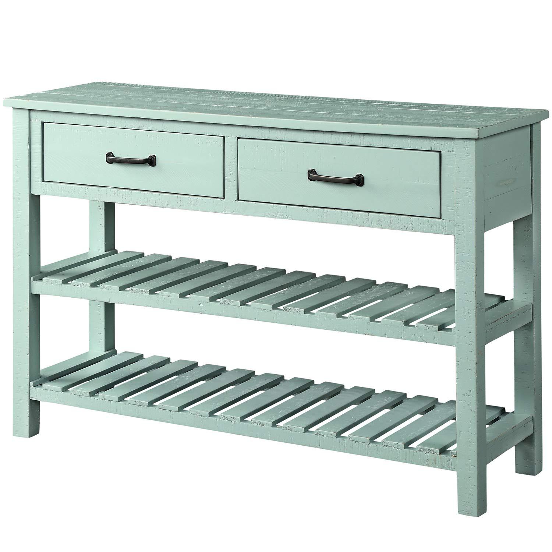 Amazon.com: Mesa de consola retro para entrada, sofá, mesa ...