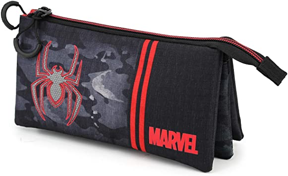 Spiderman Dark-Estuche Portatodo Triple HS: Amazon.es: Equipaje