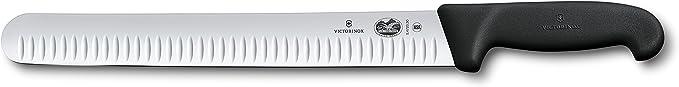 Victorinox Swiss Army - 47645 Cutlery Fibrox Pro Slicing Knife, Granton Blade, Black, 12-Inch