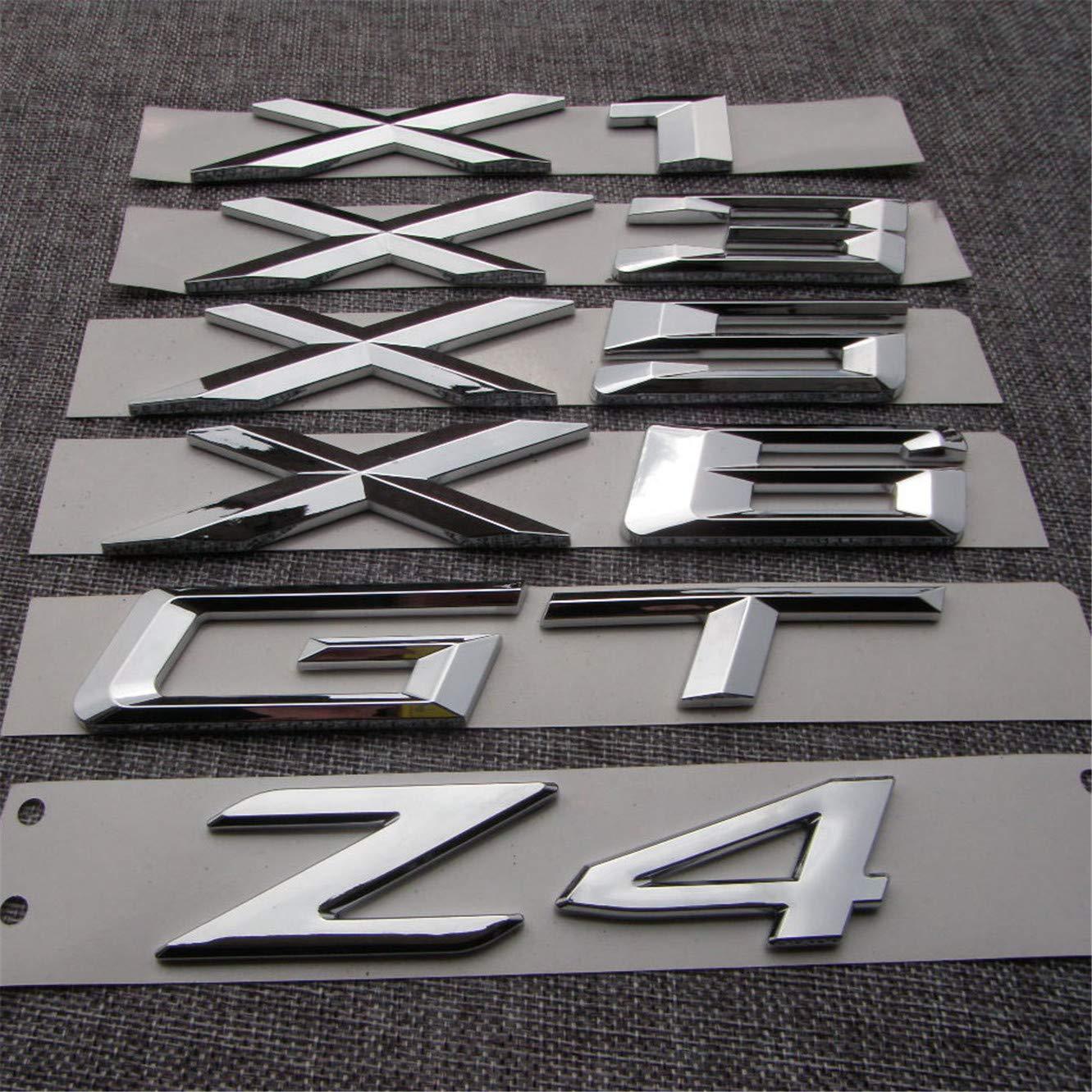 X6 X3 chisushangm Emblema de Letras de Coche con Emblema de Letras de la Letra de la Palabra de Coche de pl/ástico ABS para GT 5 Serie GT X1 X5 Z4