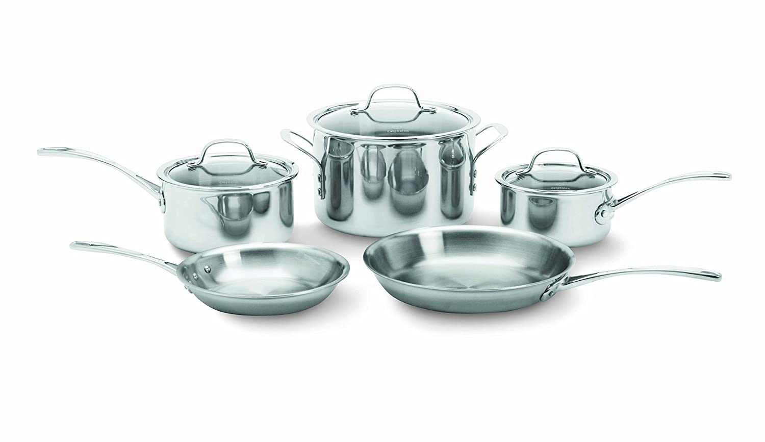 Amazon.com: Calphalon 1767952 Tri-Ply Stainless Steel 8-Piece ...