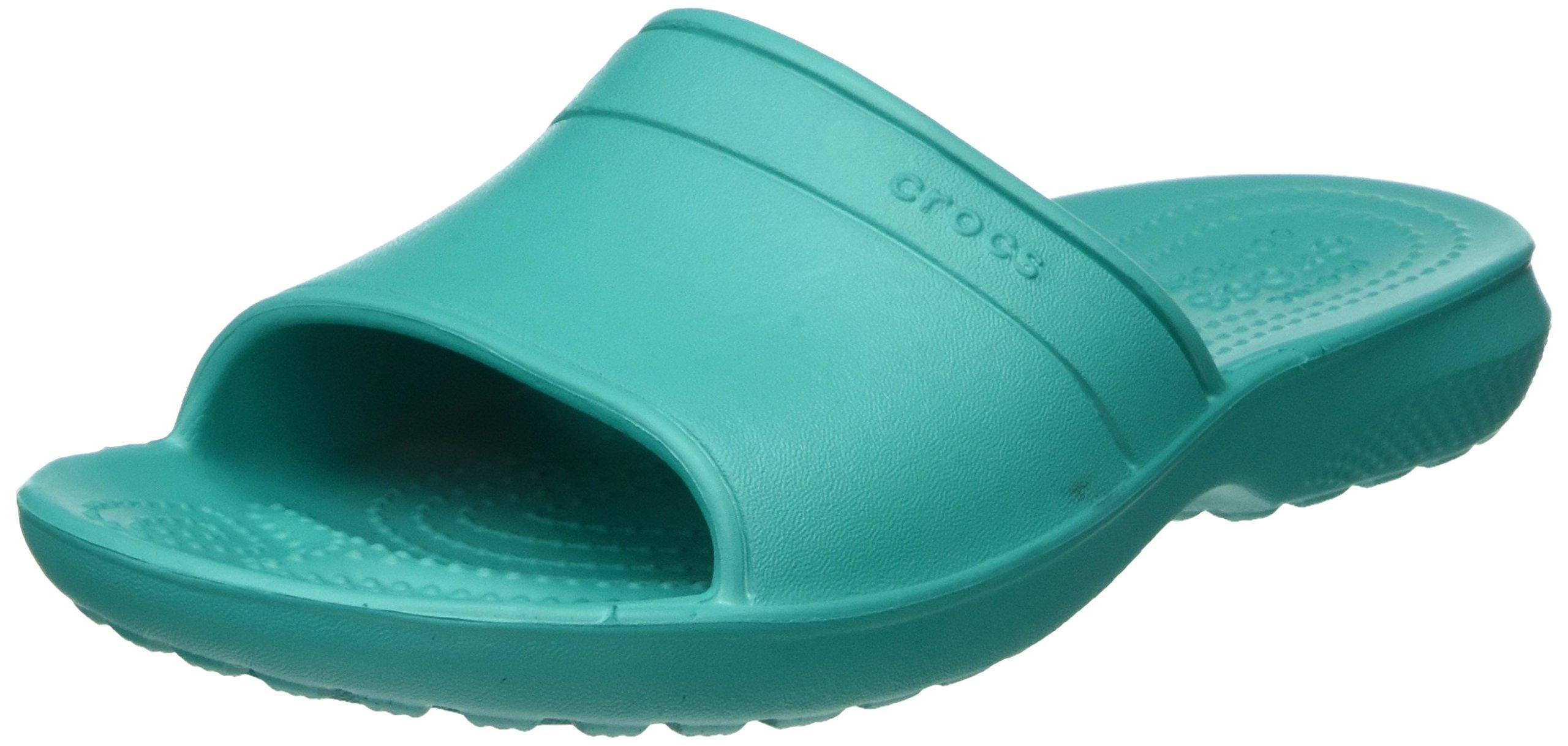 Crocs Unisex Classic Slide Sandal, Tropical Teal, 7 US Men/ 9 US Women