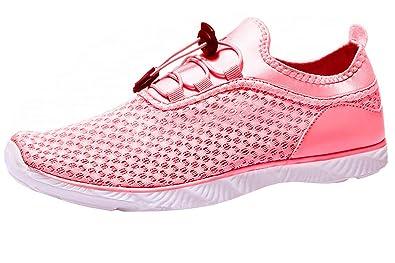 6145553d92e1 Adorllya Water Shoes for Women Men Mesh Aqua Shoes Slip on Hiking Swim Shoes