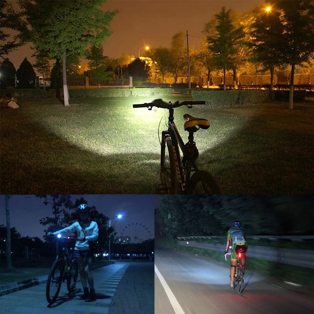 Victagen Bike Front Light,Super Bright Waterproof Bicycle Light,USB Rechargeable 2400 Lumens led Cycle Light, Free Tail Light,Easy to Install Safety LED Flashlight Cycling,Commuting,Riding by Victagen (Image #7)