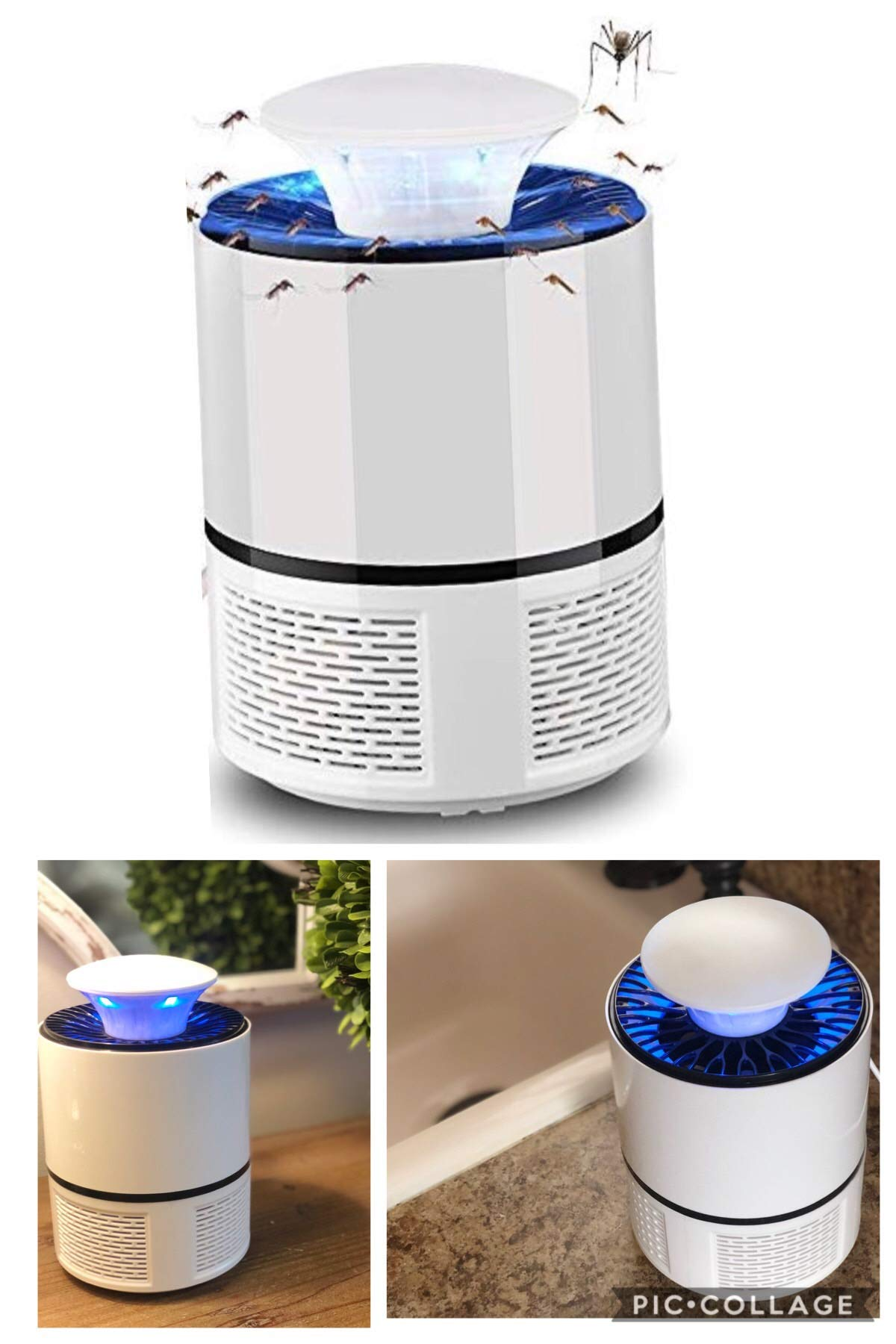 ZBI Electric Outdoor Home Bug Zapper, Indoor Mosquito Killer, Insect Catcher Trap, Fly Pest Control Device with UV Light Lamp for Home and Commercial Use by ZAG