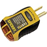 Sperry Instruments GFI6302 GFCI Outlet / Receptacle Tester, Standard 120V AC Outlets, 7 Visual Indication / Wiring Legend, Home & Professional Use, Yellow & Black