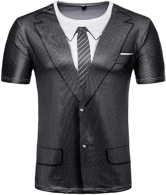 Hombres de la Moda Slim Fit 3D Camiseta de Manga Corta Muscle Camiseta Casual Tops Blusa 1478: Amazon.es: Ropa y accesorios