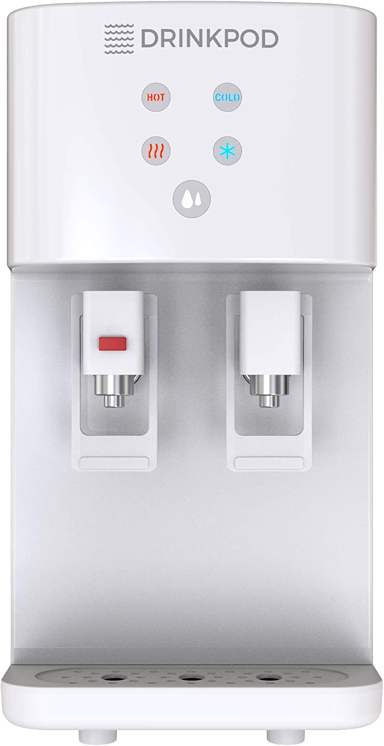 Bottleless Water Cooler Countertop Water Dispenser Hot & Cold Modes For Offices and Homes (WHITE)