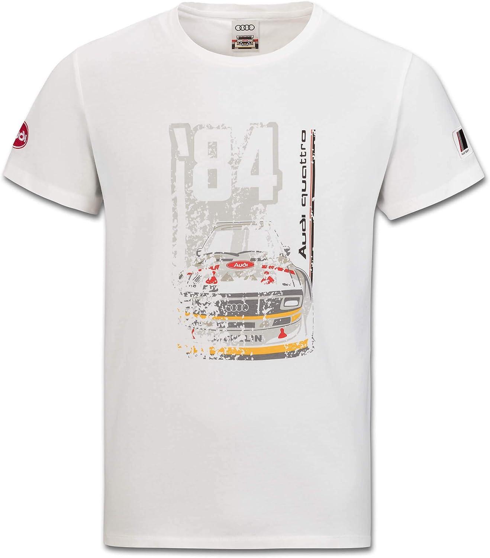 Audi collection 313180050 Heritage - Camiseta para Hombre, Talla XXL, Color Blanco Roto: Amazon.es: Coche y moto