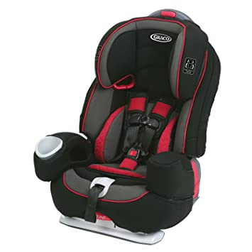 5 Point Harness Booster >> Graco Nautilus 80 Elite 3 In 1 Harness Booster Car Seat Chili Red