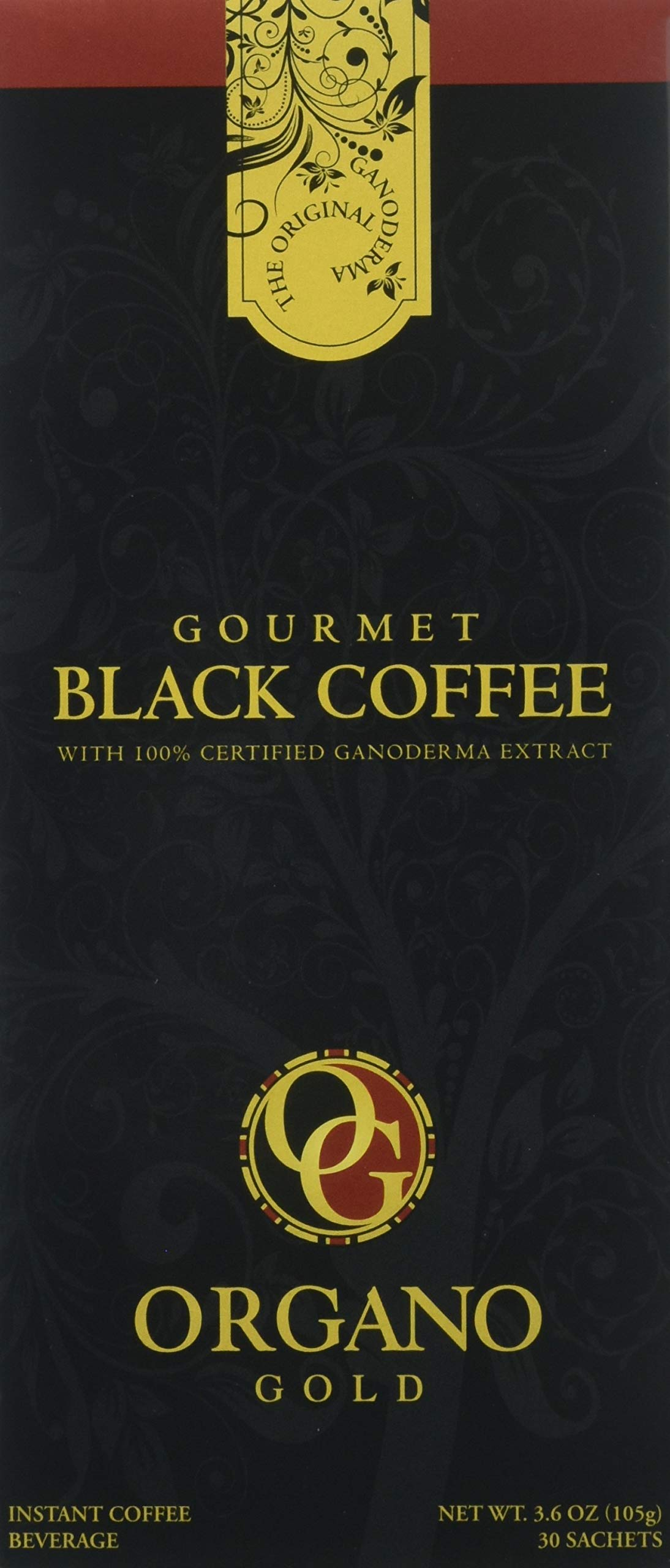 2 Box Organo Gold Gourmet Black Coffee, Organic 100% Certified, 105g - 30 bags (3.5g) by Organo Gold