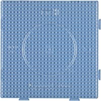 Hama 10.234TR Grote Transparante Vierkante Pegboard, Multicolor, 1 STK