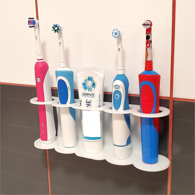 SmartProduct 2 piezas Soporte autoadhesivo apto para cepillos de dientes el/éctricos