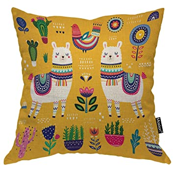 Amazon.com: Moslion - Funda de almohada decorativa con ...