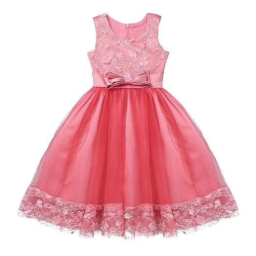 e5a04d506 Alvivi Vestido Princesa del Desfile con Encaje sin Manga Falda ...
