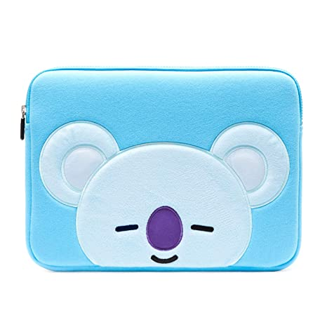 buy online 07a45 d8e29 BT21 Official Merchandise by Line Friends - KOYA 13 Inch Laptop Sleeve Case  Compatible with MacBook, iPad Pro, and 13